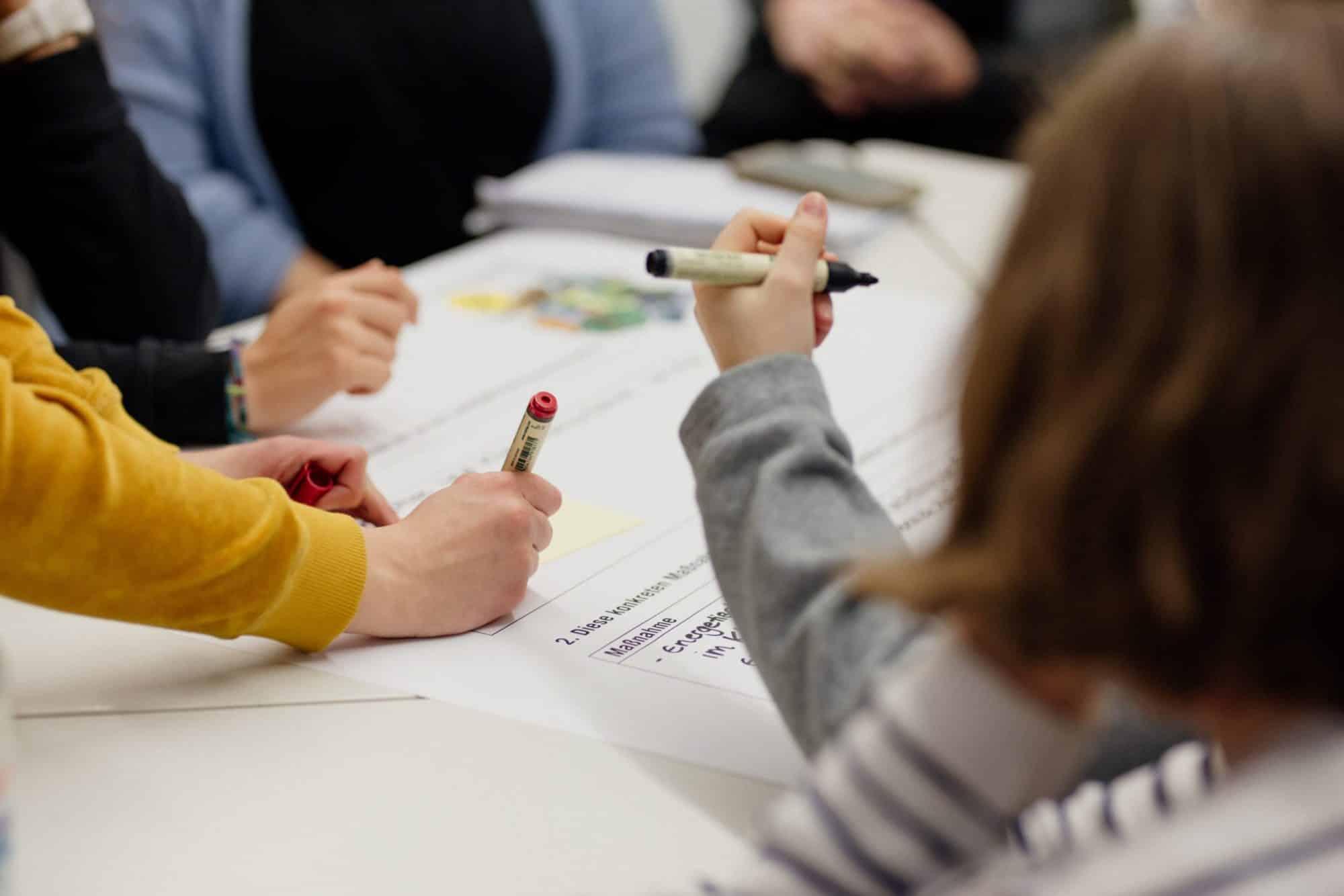 Bürger in einen Workshop