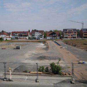 Blick über das Gelände des Fuchshofs