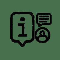 Icon für die Beteiligungsstufe Information