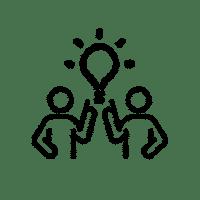 Icon für die Beteiligungsstufe Konsultation bzw. Mitarbeit