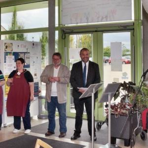 """Das Foto zeigt eine Aufnahme von der Veranstaltung zu """"10-Jahre-Mittagstisch"""" in Grünbühl-Sonnenberg 2019."""
