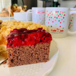 Das Foto zeigt ein Stück Kuchen im Café L'ink in Grünbühl-Sonnenberg.