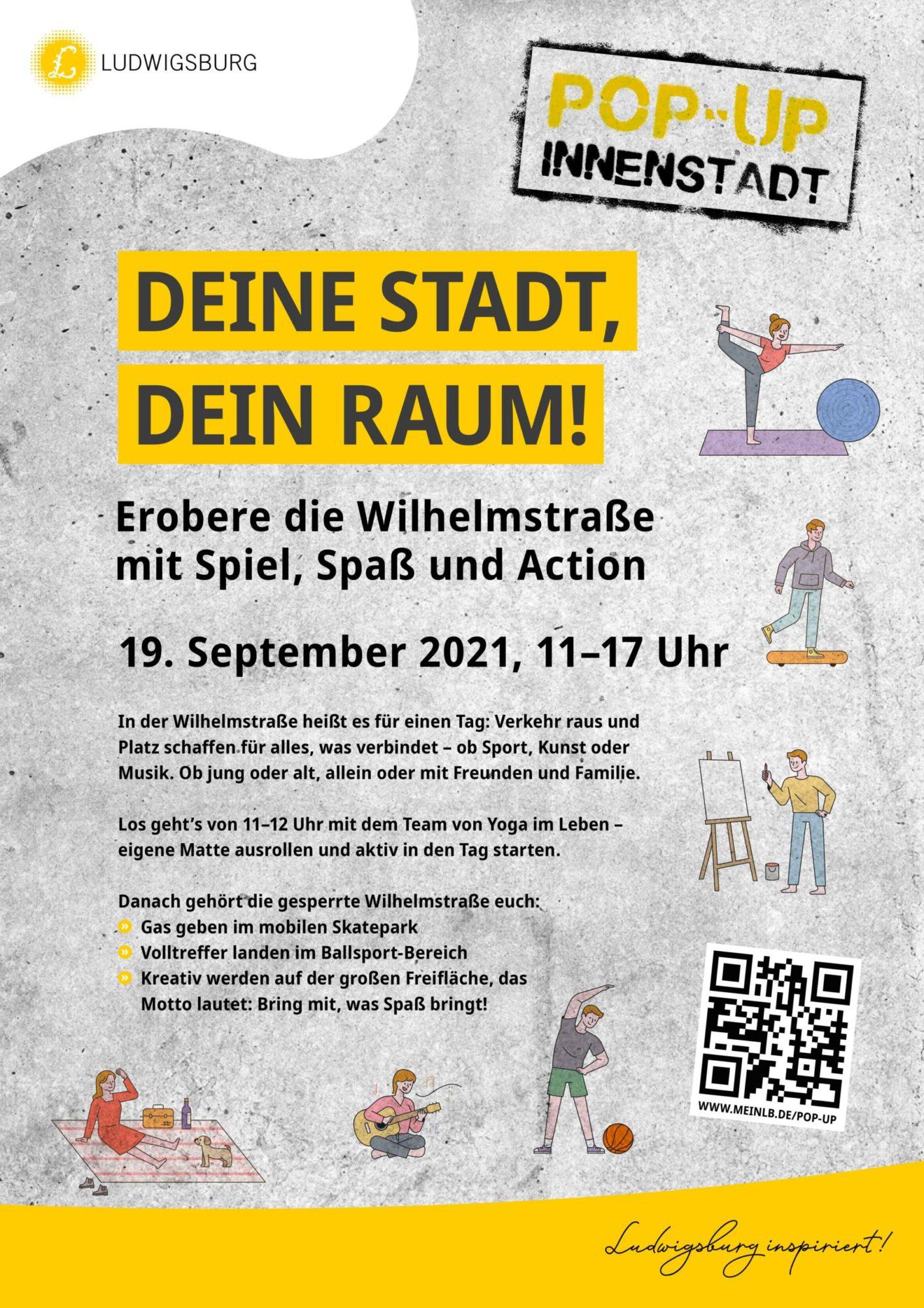 Plakat Veranstaltung Spiel- und Bewegungsstraße Wilhelmstraße